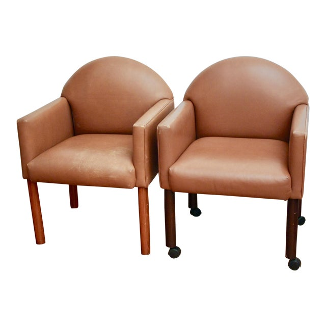 Postmodern Leather Chairs, Set of 2 - Image 1 of 11