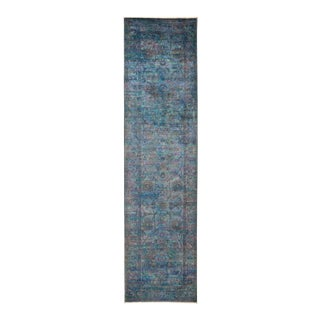 """Vibrance Hand Knotted Runner Rug - 3' 1"""" X 11' 10"""""""