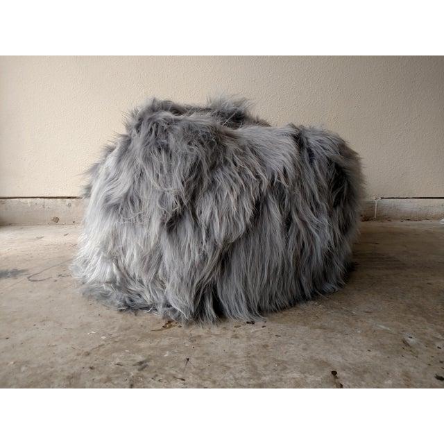 Moon Grey Sheepskin Bean Bag - Image 2 of 3