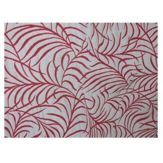 Coral Leaf Pattern Drapery - 4 Panels