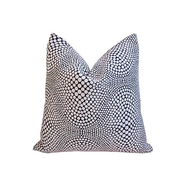 Modern Geometric Abstract Dot Pillows - A Pair - Image 4 of 7