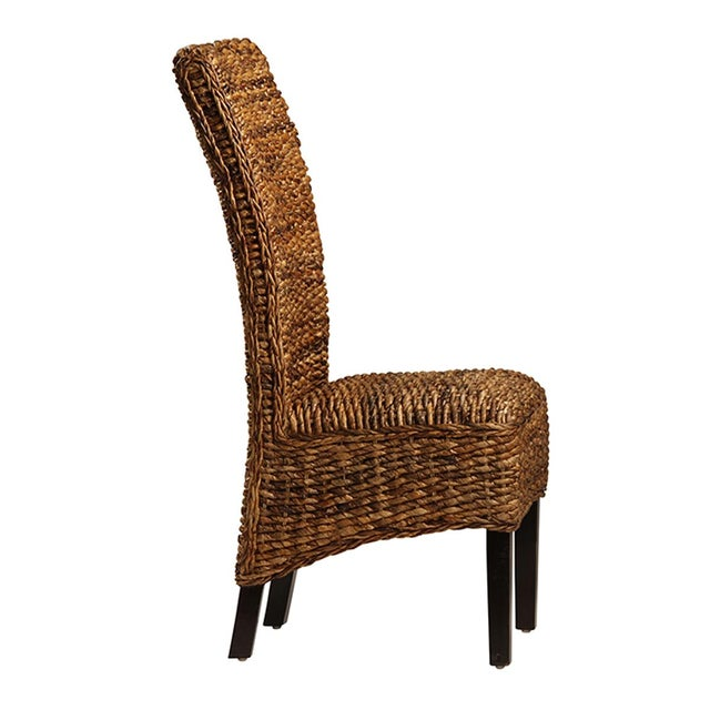 Dining Chair With Woven Banana Leaf Chairish