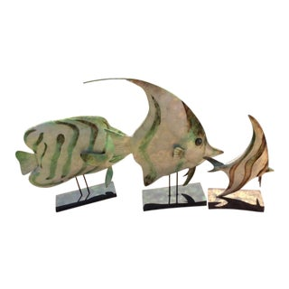 Tropical Fish on Stands - Set of 3