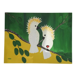 """Two Cockatoos "" Tropical Painting"