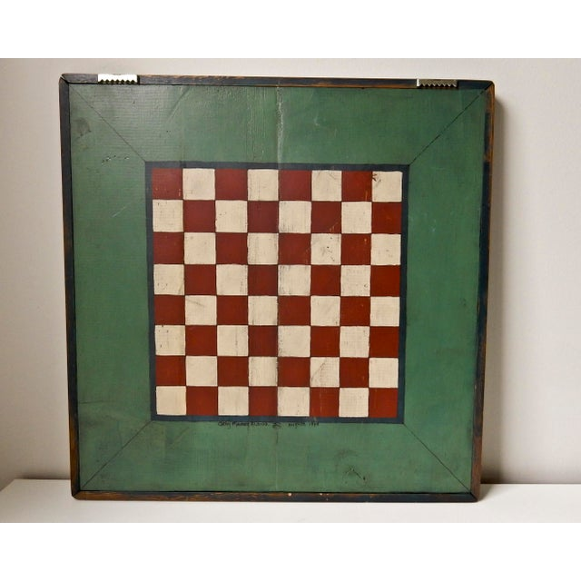 Hand Painted Parcheesi & Checkers Gameboard - Image 3 of 6