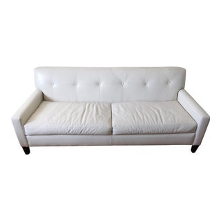 Cisco Brothers White Leather Sofa