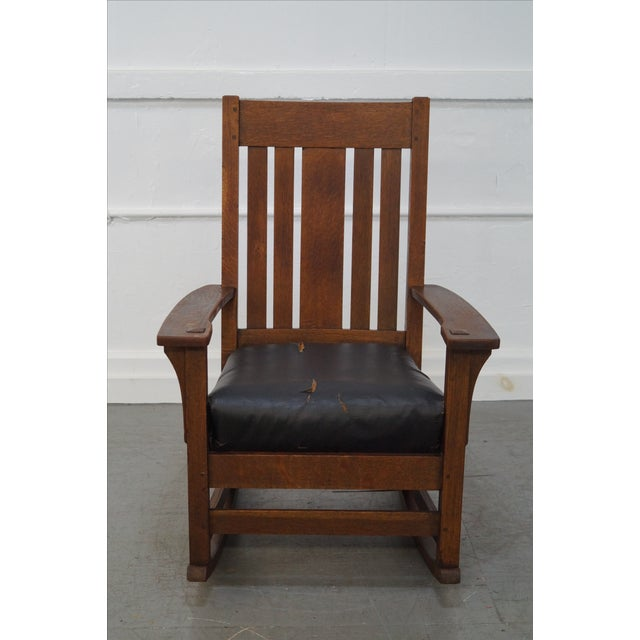 Antique Mission Oak Rocking Chair Chairish