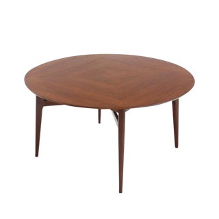 Danish Modern Teak Round Game Table