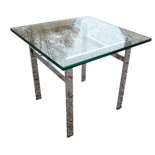 Mid-Century Modern Chrome & Glass Table