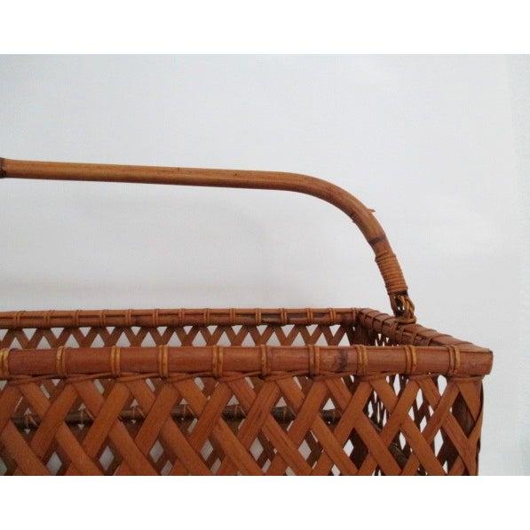 Vintage Handmade Wicker Basket - Image 3 of 6