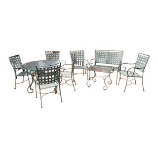 Wrought Iron Patio Furniture Set