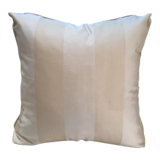 Cream Stripe Silk Pillow