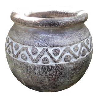 White-Washed Tribe Pot