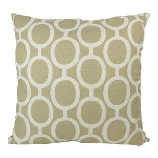 Linked Chain Pattern Custom Linen Pillow