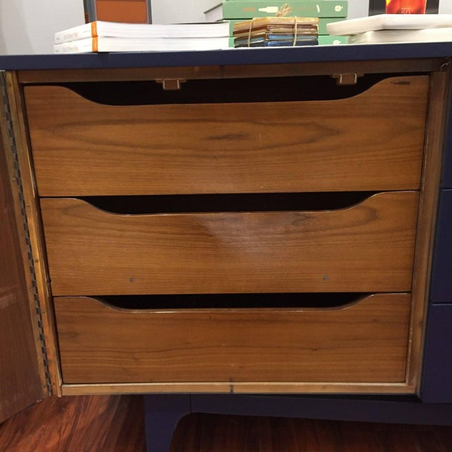 Vintage Blue Mid-Century Modern Dresser - Image 5 of 6