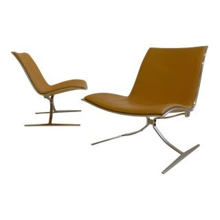 """Matched Pair of Fabricius and Kastholm FK 710 """"Skater"""" Chairs"""