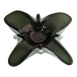 Toso Murano Butterfly Decorative Bowl