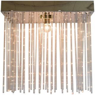 Large Cascade Rod Chandelier by Lightolier