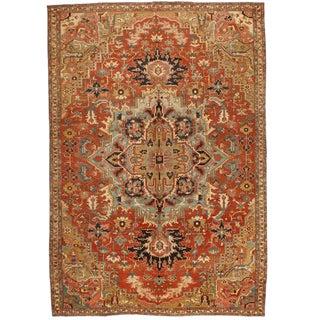 Antique 19th Century Persian Serapi Carpet