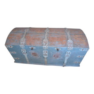 Antique Swedish Immigrant Trunk