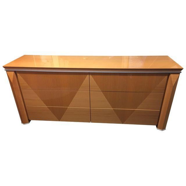 Giorgio Collection Parquet Dresser with Mirror - Image 1 of 10