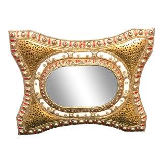 Moroccan Brass Mirror