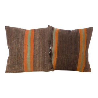 Moroccan Woven Wool Pillows - A Pair