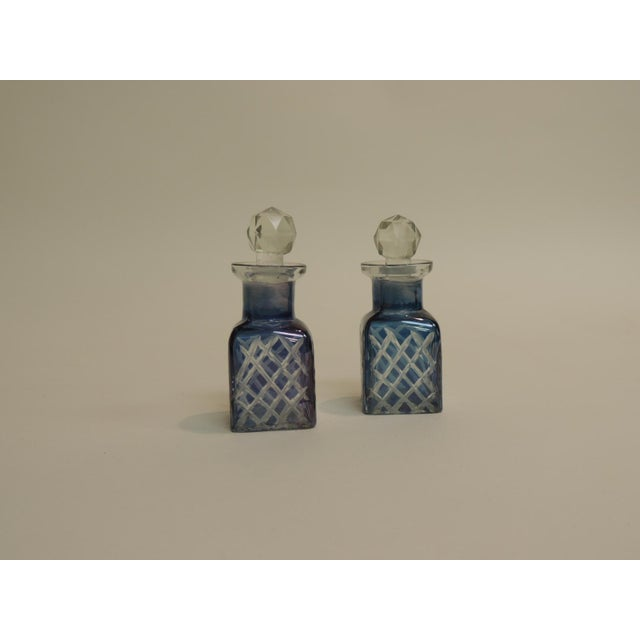 Antique French Crystal Perfume Bottles - A Pair - Image 2 of 4