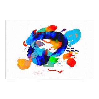 """Miami Splash"" Abstract Art Print"
