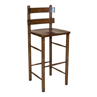Vintage Sarreid LTD Wooden Bar Stool