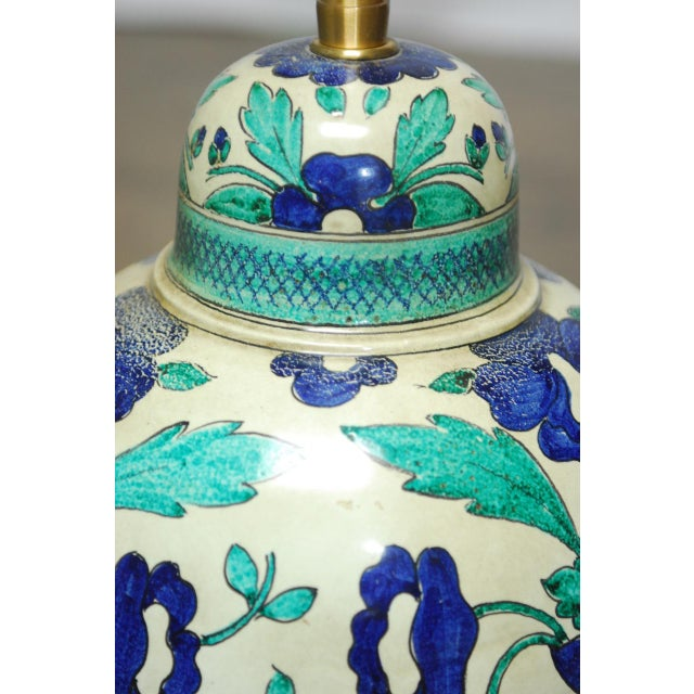 Marbro Italian Ceramic Faience Table Lamp - Image 3 of 9