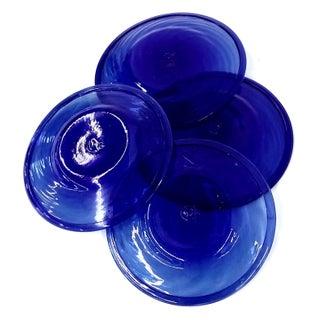 Genuine Cobalt Blue Small Plates - Set of 4