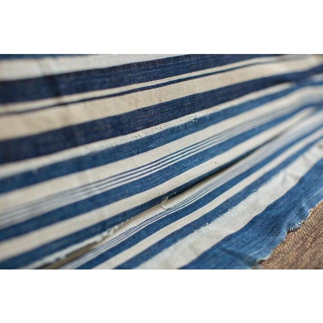 Vintage Indigo Stripe Throw - Image 6 of 7