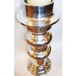 Image of X-Large Polished Aluminum Candle Holder
