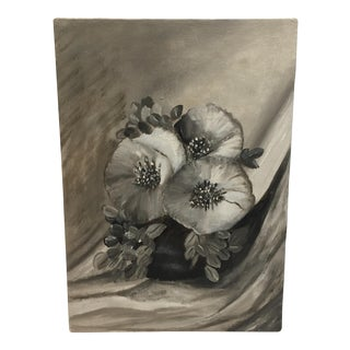 Still Life Monochromatic Floral Painting