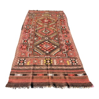 "Traditional Vintage Persian Kilim - 4'4"" x 10'2"""