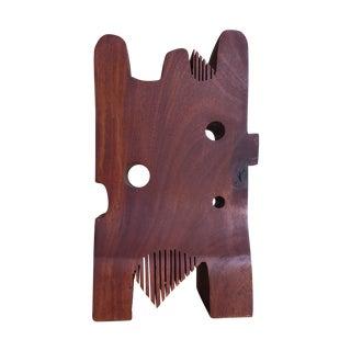 Mid-Century Teak Wood Abstract Sculpture