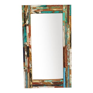 Reclaimed Boat Wood Mirror