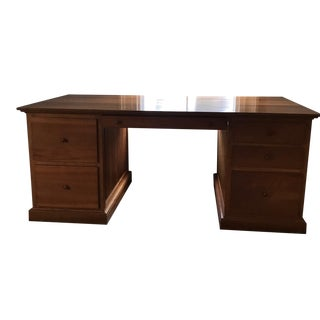 Large American Shaker Solid Cherry Wood Desk