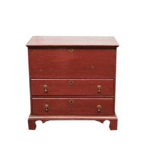 Painted English Blanket Box with Two Drawers