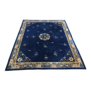"""Antique Chinese Rug - 10'5"""" X 12'8"""""""