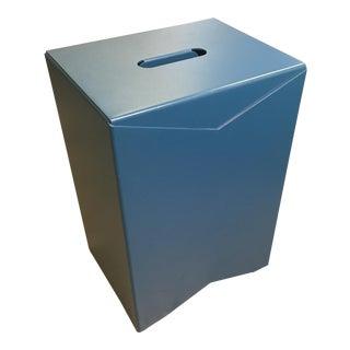 Aluminum Fold Modern Blue Stool