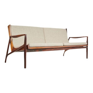 Brazilian Modern Jacaranda Sofa, Attributed to Joaquim Tenreiro, Circa 1960