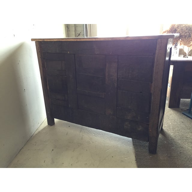 Image of Antique French Country Walnut Cabinet