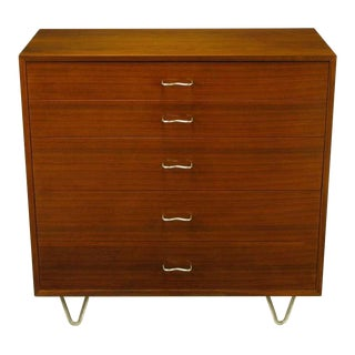George Nelson Mahogany Five-Drawer Tall Chest