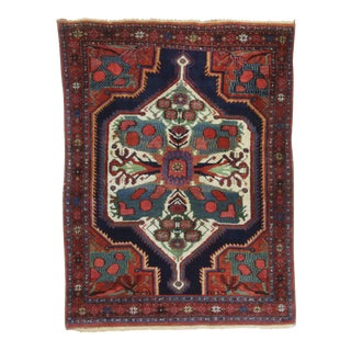 Antique Hand Knotted Wool Persian Baktiari - 4′5″ × 5′11″