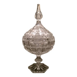 French Crystal Lidded Compote