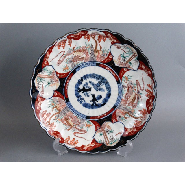Japanese Porcelain Imari Chargers - A Pair - Image 6 of 9