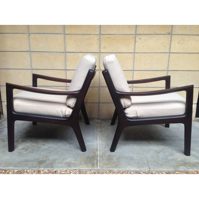 Image of Ole Wanscher Mid-Century Rosewood Chairs - A Pair