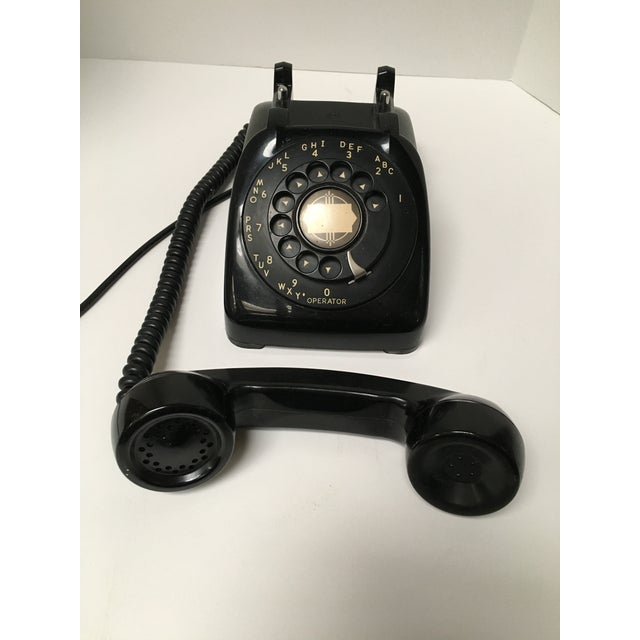 Vintage Leich Black Bakelite Dial Telephone - Image 8 of 9